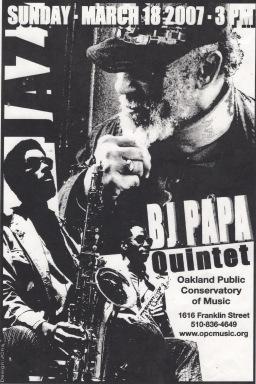 BJ Papa Quintet - 2017 Poster